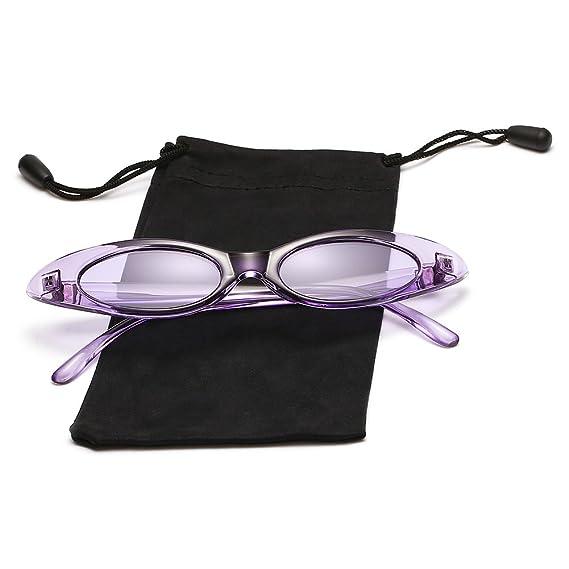 Amazon.com: Cateye anteojos De Sol ovalado pequeño Clout ...