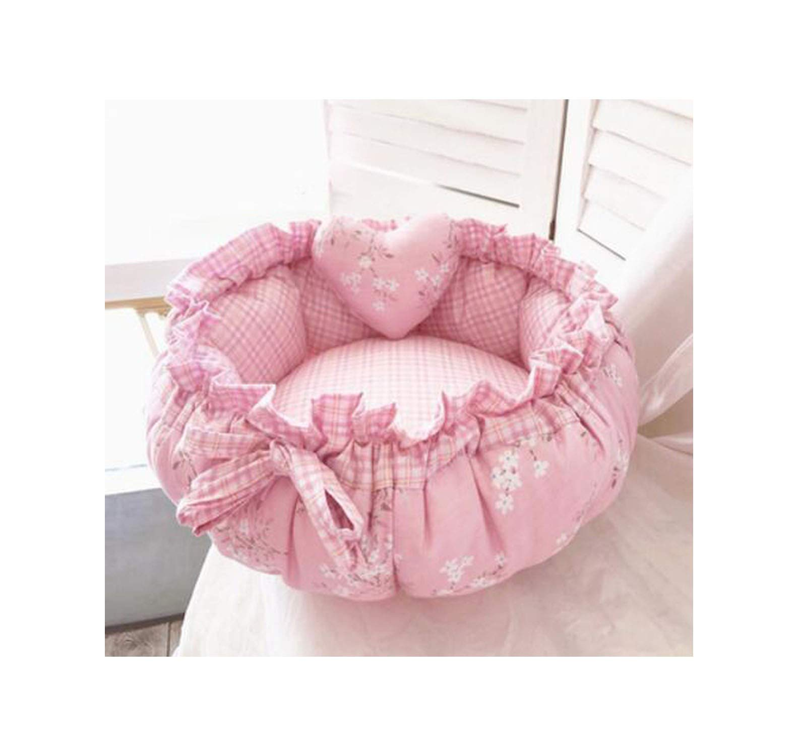 Princess Style Sweety Pet Dog Bed Cat Bed House Cushion Kennel Pens Sofa with Pillow Warm Sleeping Bag 1Pc,3,L 60Cm by PANSHANYAO-Pet beds