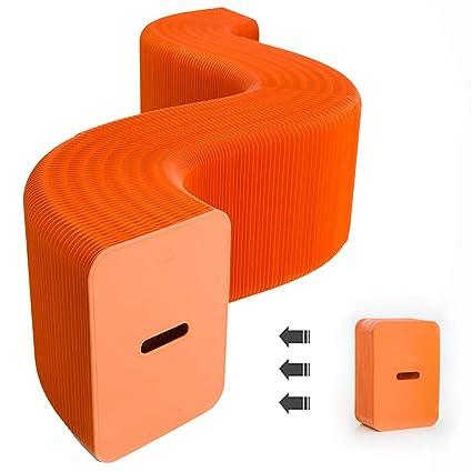FSJJ&R Naranja Plegable Taburete Silla Creatividad ...