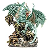 Design Toscano Scylla The Dragon Demon from The Depths of The Sea Statue, Silver