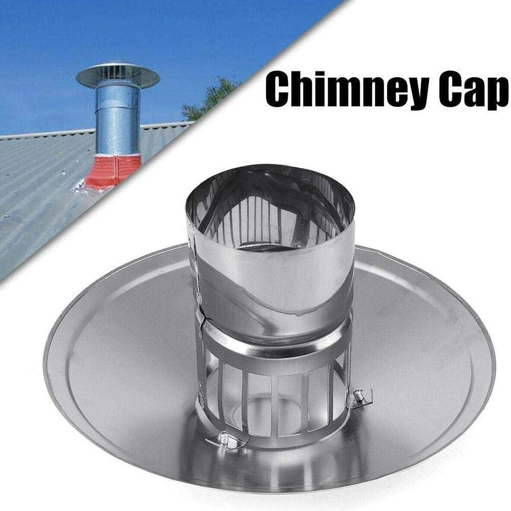 100mm-200mm 430 Alvanized Iron Stove Pipe Chimney Cap Fireplaces Rain Hat Galvanized Iron Mushroom Shape Chimney Cap
