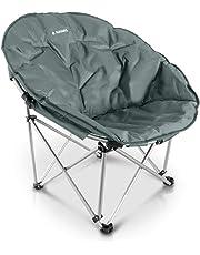 Navaris Silla Redonda Plegable - Asiento para Camping XXL con Bolsa - Silla portátil para Acampada - Silla para el Aire Libre en DIV. Colores