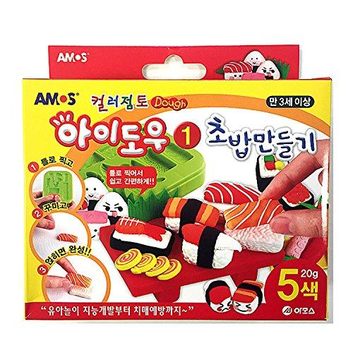 Amos IDough Color Clay Play Dough DIY Making Kit - Sushi (5 Colors)