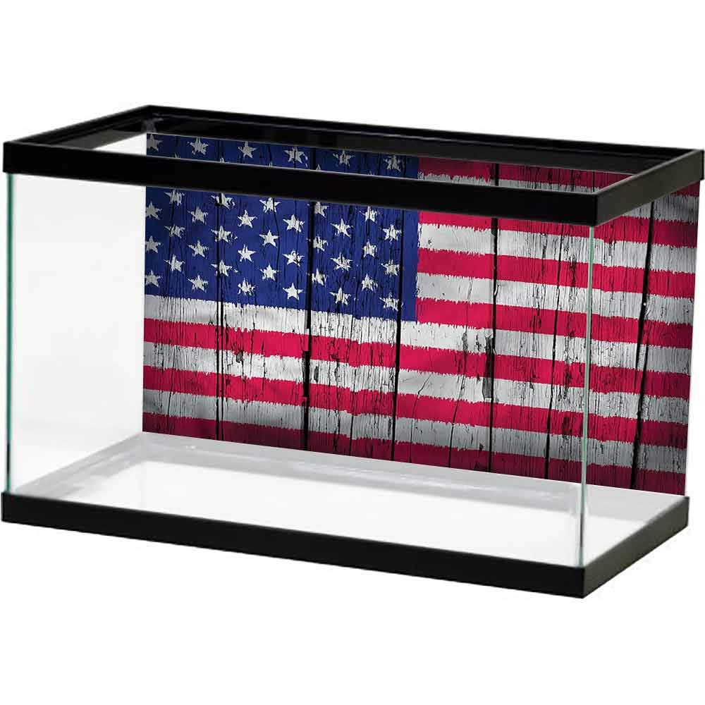 homecoco Image Decor USA,July Fourth Freedom Day Decorate Fish Tank by homecoco
