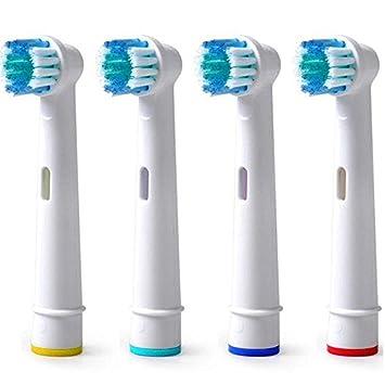 CALISTOUK 4 cabezales de cepillo de dientes eléctrico de repuesto para Oral SB-17A EB17-4, cerdas suaves: Amazon.es: Hogar