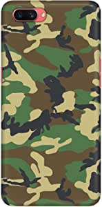 Stylizedd Oppo A3s Slim Snap Basic Case Cover Matte Finish - Jungle Camo