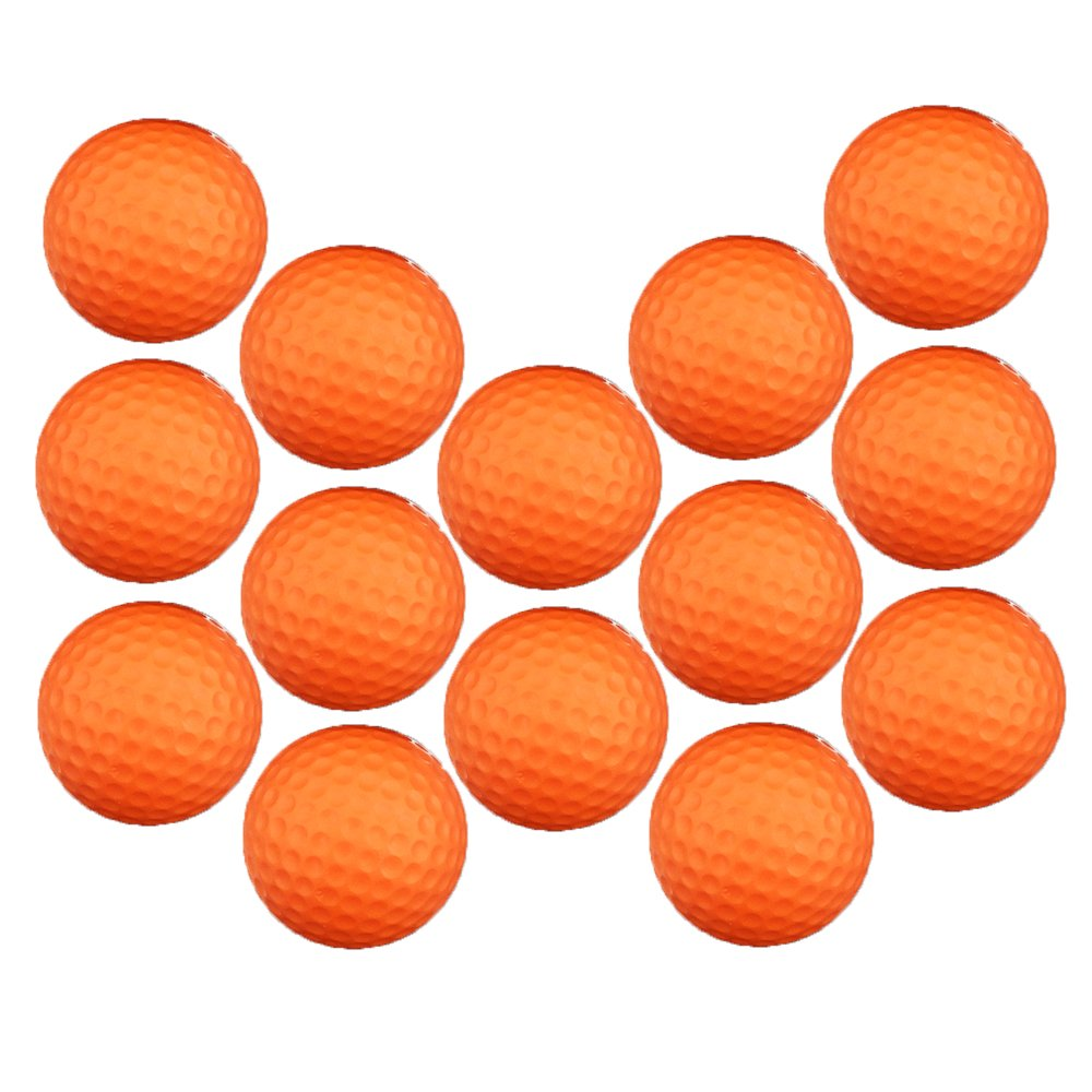 Dsmile Practice Golf Balls, Foam, 14 Count, Orange by Dsmile