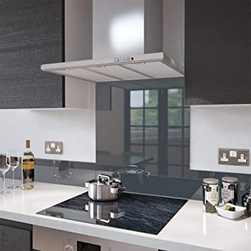 Merveilleux Anthracite Grey Toughened Glass Splashbacks And Upstands   Made By Premier  Range In 60cm Wide X 75cm High: Amazon.co.uk: Kitchen U0026 Home