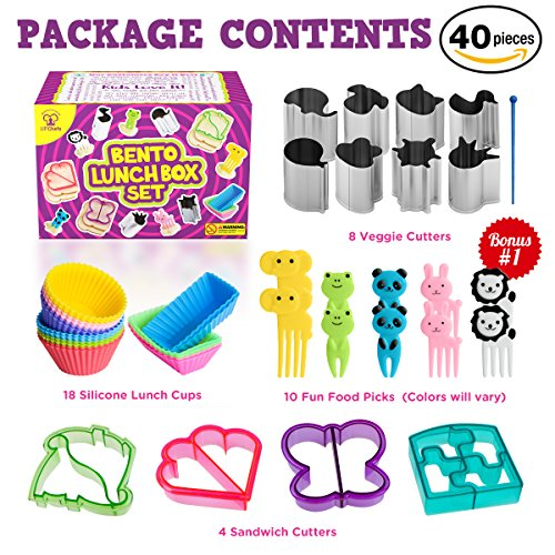 Complete Bento Lunch Box Supplies And Accessories For Kids
