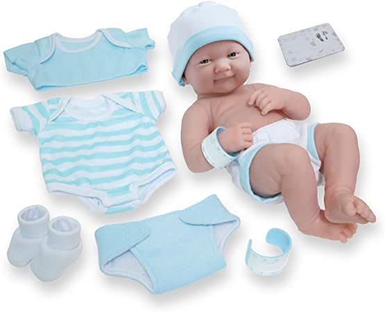 JC Toys 8-Piece Layette Baby Doll Set
