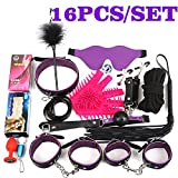 Sex Products 16 Pieces/Set BDSM Bondage Set Leather Fetish Adult Games Sex Toys for Couples Women Sexy Handcuffs 10Pcs