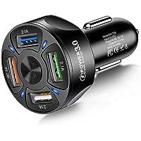 4-poort autolader USB-adapter, MoreChioce 12-24V autolader adapter universele USB-autolader compatibel met mobiele…