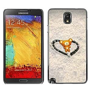 Exotic-Star ( Love Cute Heart Bear ) Fundas Cover Cubre Hard Case Cover para Samsung Galaxy Note 3 III / N9000 / N9005