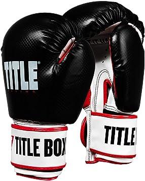 Black Title Boxing HIT IT HARD Training Gloves REG New in Bag