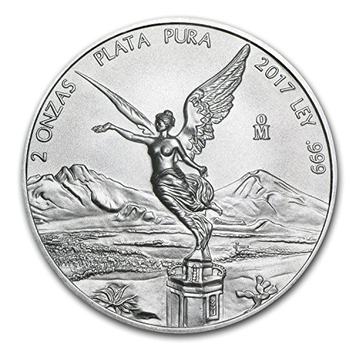 2017 MX Mexico 2 oz Silver Libertad BU Silver Brilliant Uncirculated