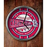 MLB St. Louis Cardinals Official Chrome Clock, Multicolor, One Size