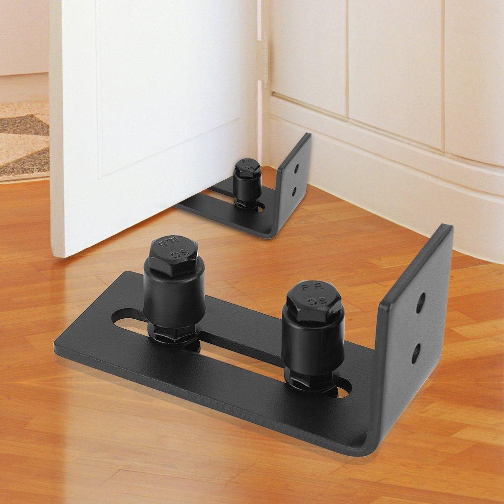 Barn Door Floor Guide Stay Roller Adjustable Wall Mount Carbon Steel Guides Hardware Bottom Bracket Sits Flat On Floor