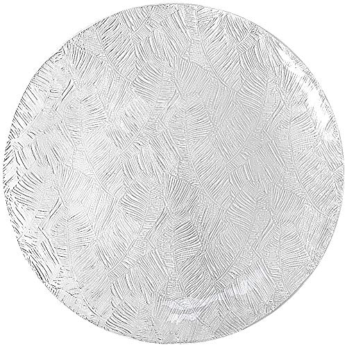 Almagic 12.5″ Salad Plate- Home and Kitchen Use Durable Dinner Plate- Glass Dinnerware Set of 4