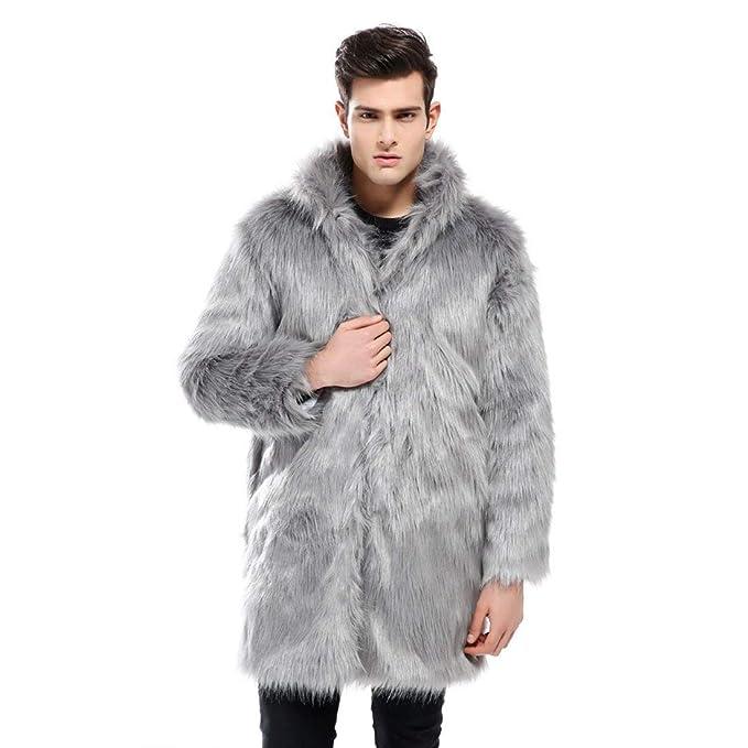 Hommes Veste d'hiver Chaud Casual Manteau Fausse Lâche Casua