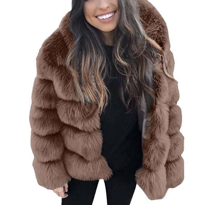 8e24ffcbc61 Women Winter Faux Fur Hooded Coat Parka