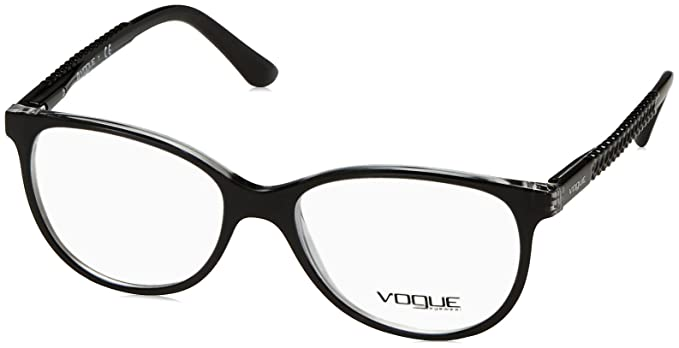 5bf4f76c162 Image Unavailable. Image not available for. Color  Vogue VO5030 Eyeglass  Frames W827-53 - Top Black Transparent
