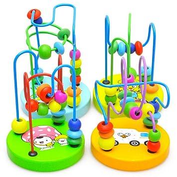 hibote Bunte Baby Kinder Holz Mini Um Perlen Pädagogisches Spielzeug ...