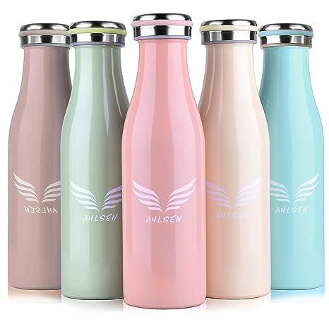 Botella de agua térmica al vacío, 500 ml, acero inoxidable 304, doble pared, para deportes, 12 horas/24 horas, bebidas frías y calientes, café, ...