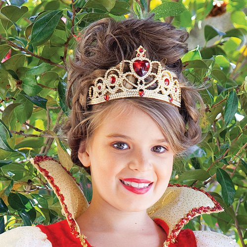 Princess Paradise Kids Red and Gold Honeycomb Tiara Crown, One Size