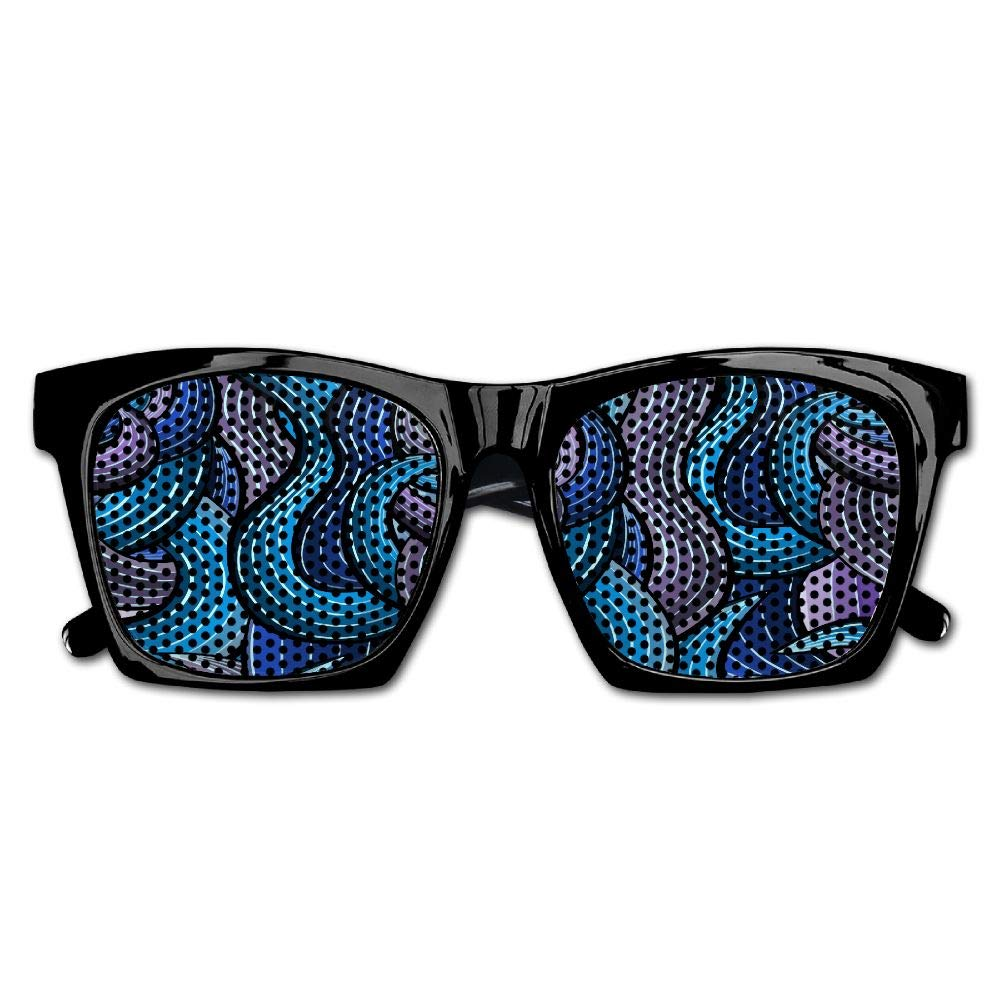 Xing Stars Colorful Summer Unisex Blue Wave Pattern Fashion Party Costume Sunglasses