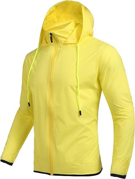 Coofandy Chaqueta Impermeable Deporte con Capucha y Bolsillo de Moda para Hombre