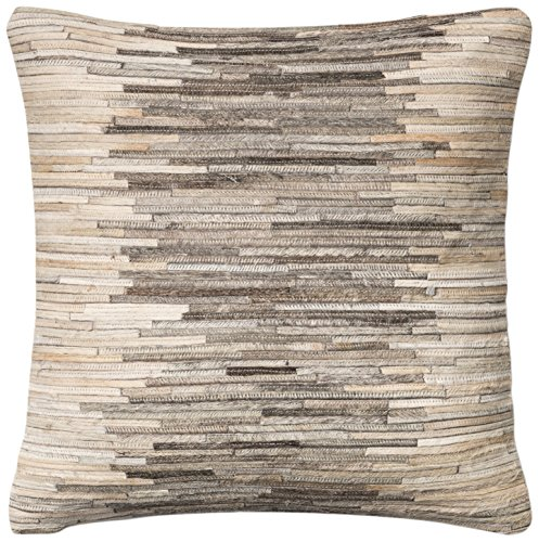 dset loloi leather u0026 cotton cover with down fill decorative accent pillow