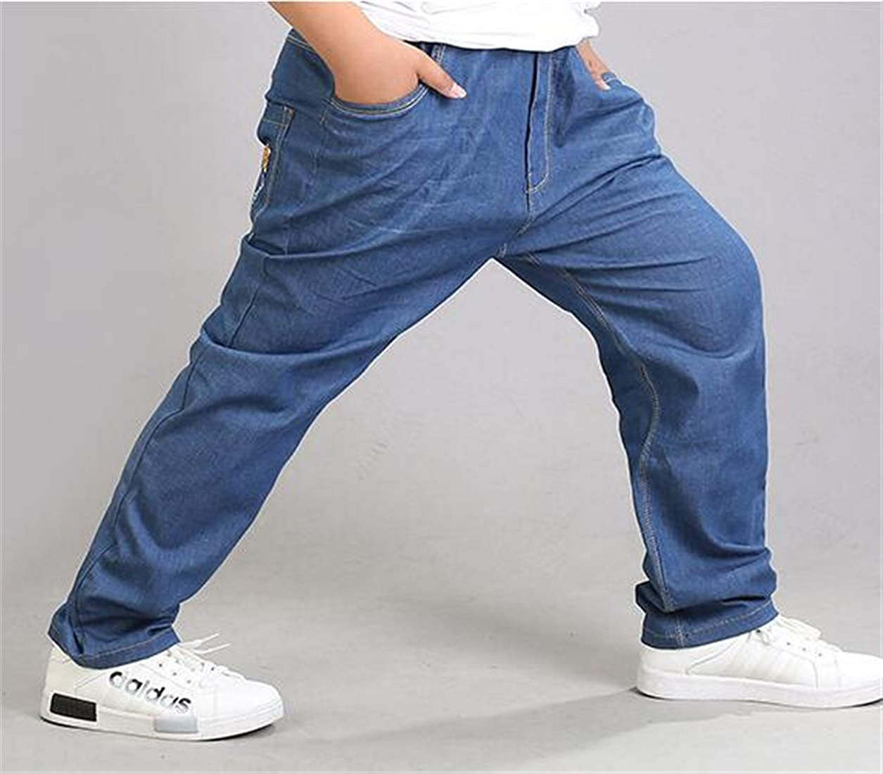 Macondoo Boys Cute Stretchy Jeans Trousers Plus Size Loose Denim Pants