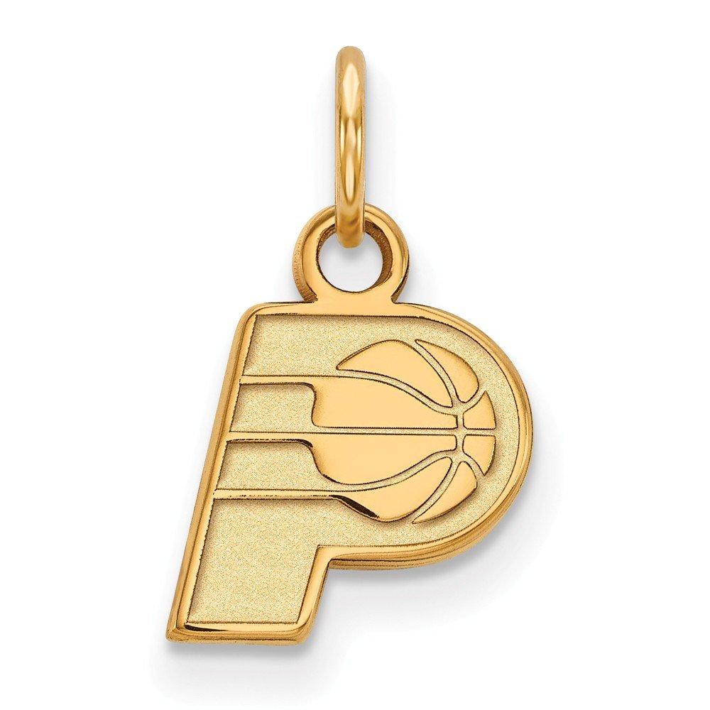 Roy Rose Jewelry 14K Yellow Gold NBA LogoArt Indiana Pacers X-small Pendant / Charm