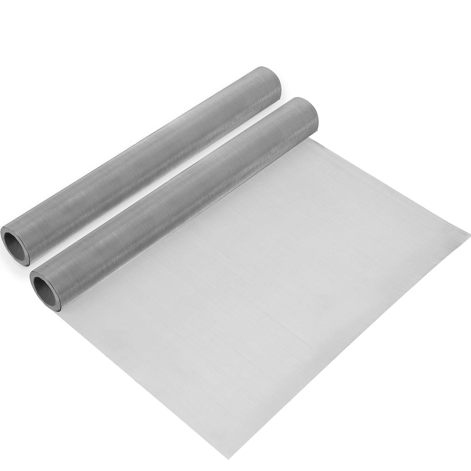 2 Packs 304 Stainless Steel Woven Wire  120 Mesh Fine Screen Mesh Steel Woven Mesh for Filter Mesh, Filtration Cloth, 11.8 x 39.3 Inch by SATINIOR