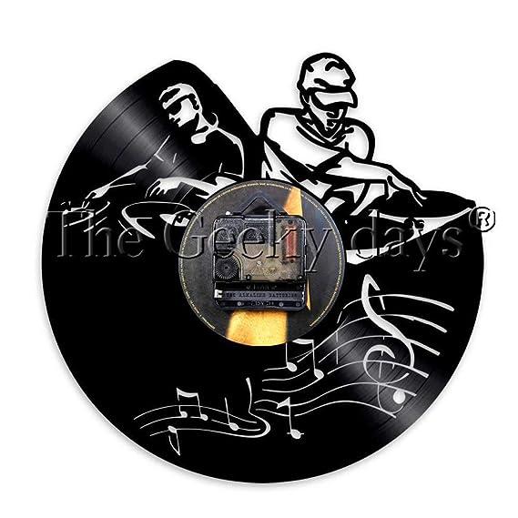 TPYFEI 1 Pieza DJ Tocadiscos Mezclador LP Disco de Vinilo Reloj de ...