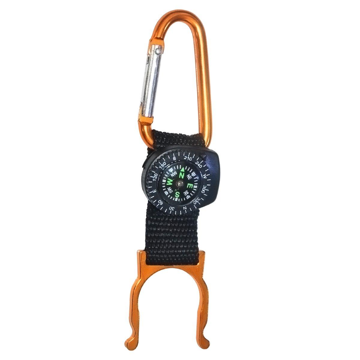 yzxliボトルボアクイックHangingボトルバックル、ミネラル水ボトルバックル、キャンプのためのコンパスとハイキングミネラル水飲料ボトルバックル B075CZPQP6 オレンジ オレンジ