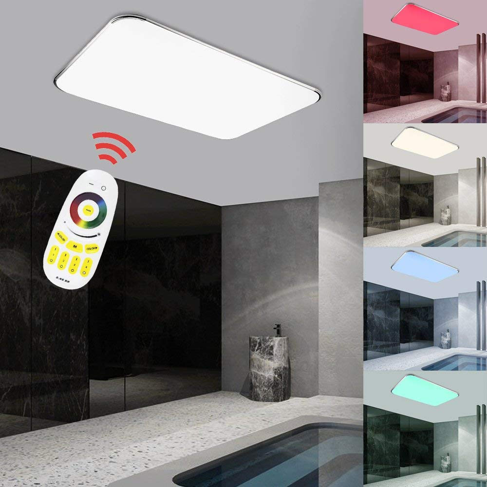 Hengda 24W RGB Brillo Ajustable RGB LED luz de Techo con Control ...