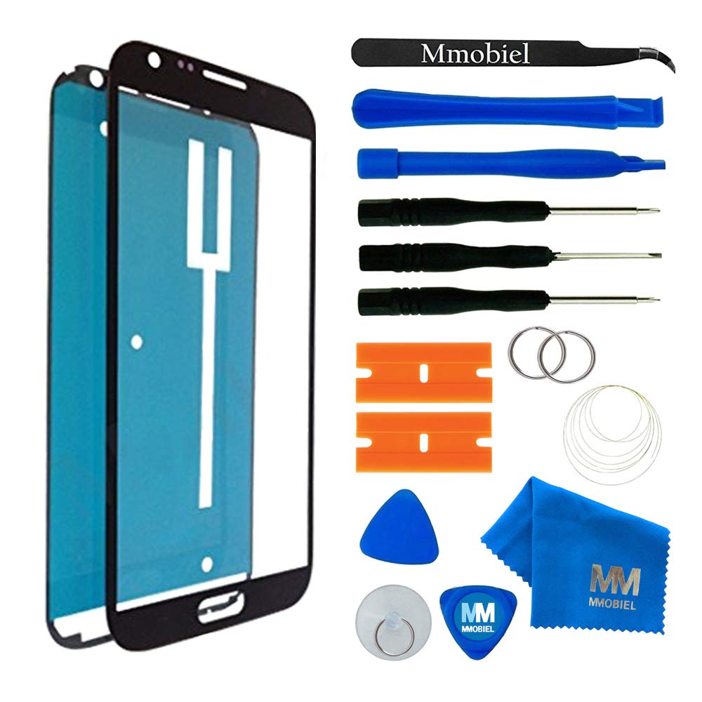 MMOBIEL Front Glass replacement for Samsung Galaxy Note 2 (Black) Display Touchscreen incl Tool Kit