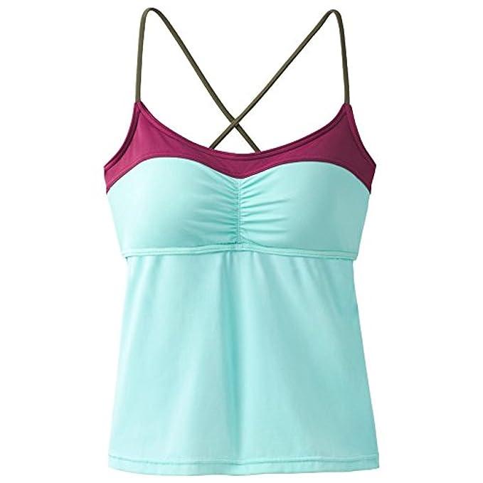 abb9f25d40a4f Amazon.com: prAna Makoa Tankini Swim Tops, Succulent Color Block, X ...