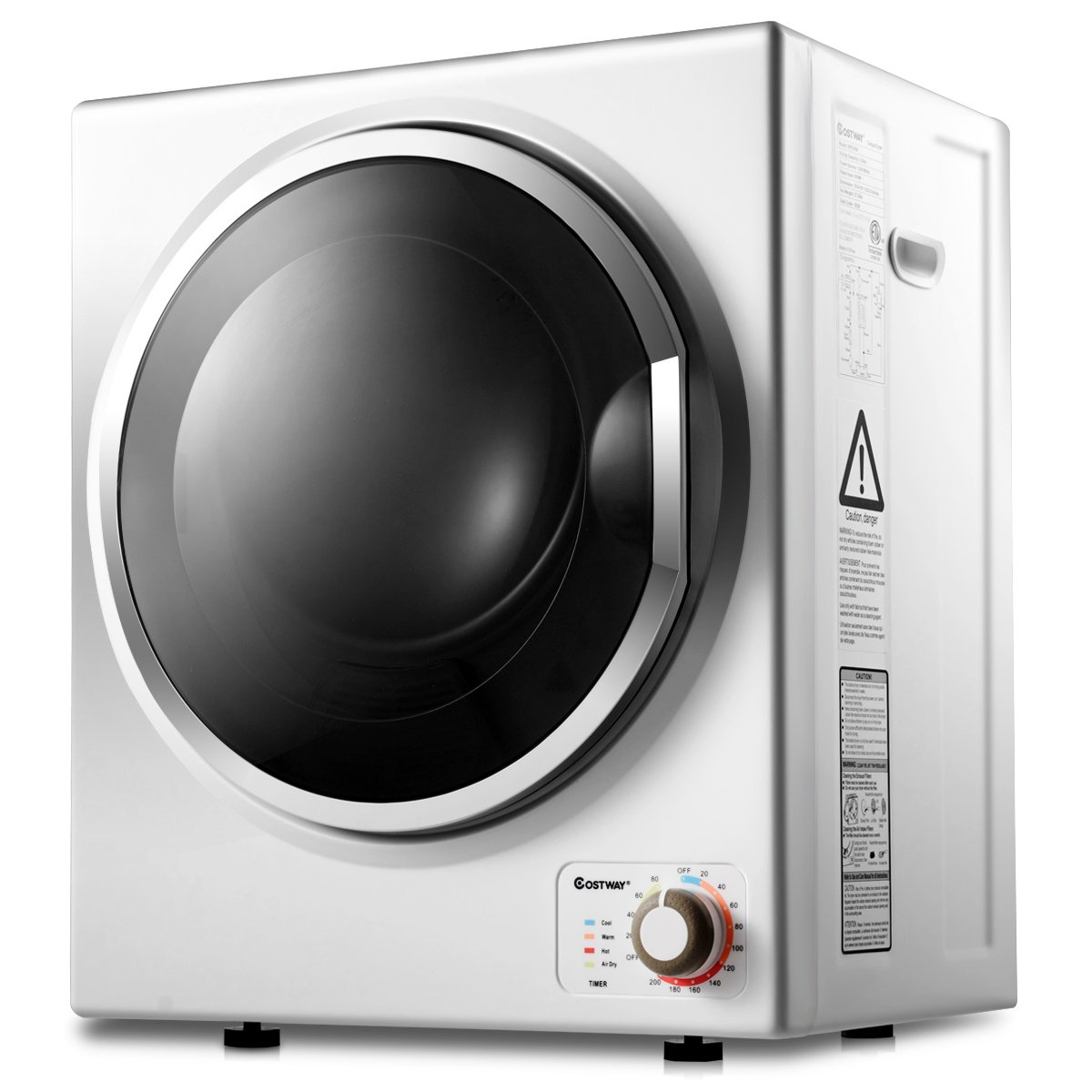 COSTWAY Tumble Dryer Electric Compact Stainless Steel Clothes Laundry Dryer