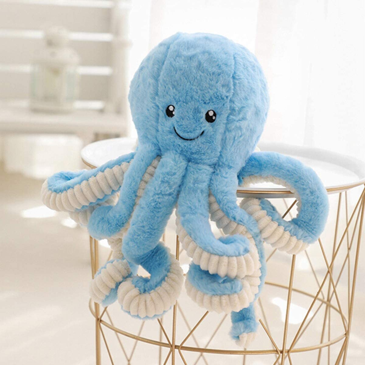 BELUPAI Octopus Plush Stuffed Toy, Cute Sea Creature Plush Toy Simulation Animals Soft Plush Pillow Gift for Kids Boys and Girls 15.7inch (Blue)