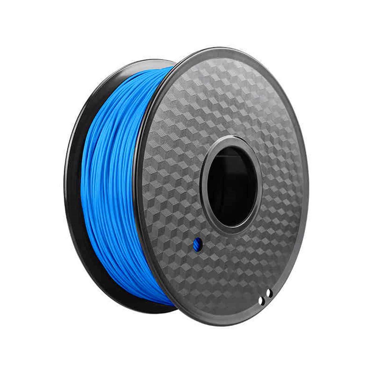 precisi/ón dimensional +//- 0,02 mm 1 Filamento de impresora 3D PLA Materiales de 1,75 mm 1 kg Bobina negro azul