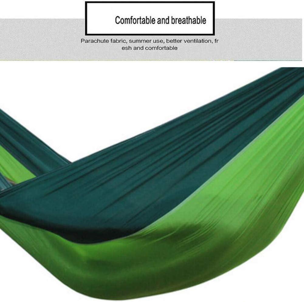OUTDOOR Hamac Simple Double Camping Hamac Portable Léger pour Randonnée en Plein Air Voyage Randonnée - Nylon Hamac Swing C