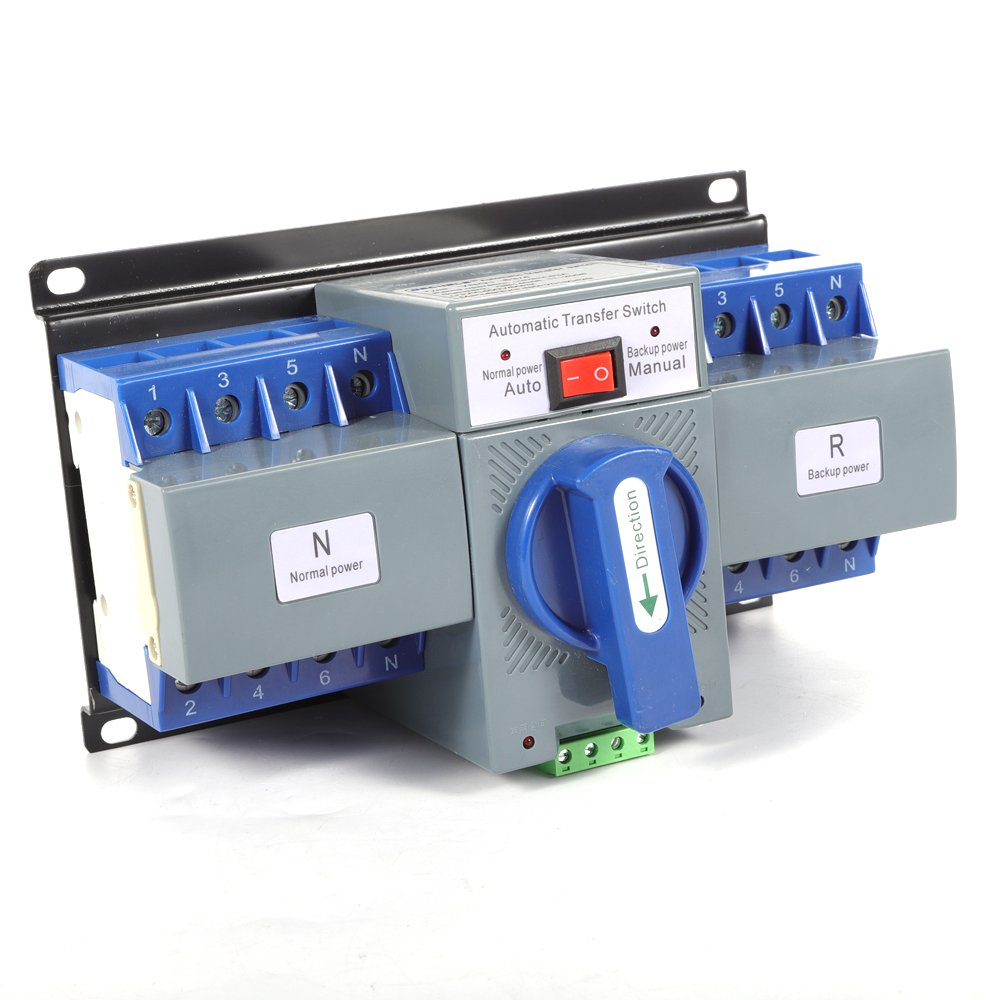 Eapmic 50/60HZ AC-33iB AC 110V 63A 4P Self cast Conversion Mini Dual Power Automatic Transfer Switches ATS CB Level M6 (4P/63A)