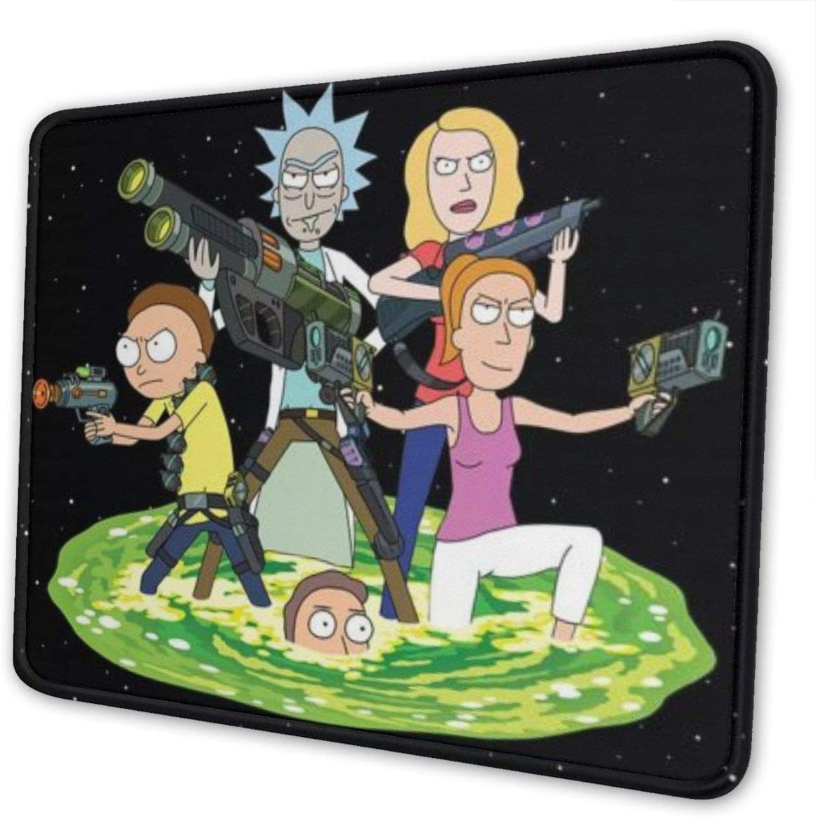 Anime Game Rick /& Morty Mouse Pad Extended Computer Pad Non-Slip Rubber and Durable Stitched Edges for Gaming Keyboard Laptop Mouse Pad 7 X 8.6 in