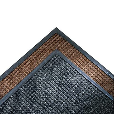 CROWN SSR310CH Super-Soaker Wiper Mat w/Gripper Bottom, Polypropyl, 34 x 119, Charcoal - Crown Super Soaker Wiper Mat