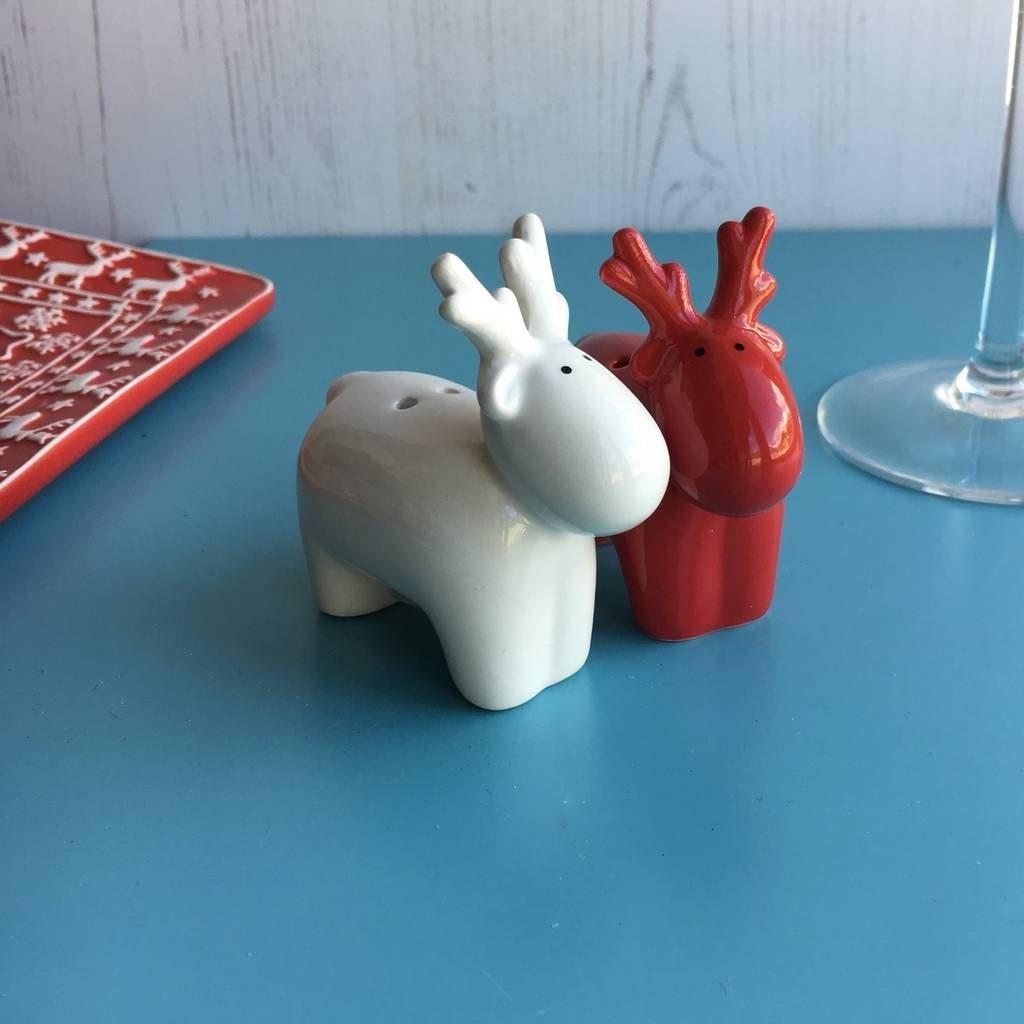 Rosso e Bianco renna set sale e pepe