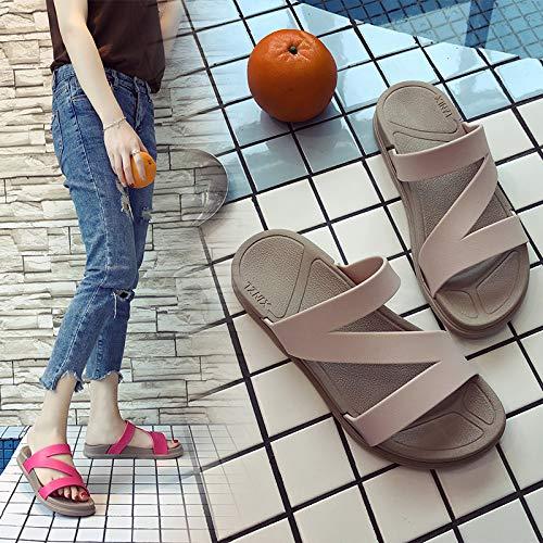 Fuori Pantofole Nero Shoe Parola Una Donna Qsy Da Al Suola Con Spessa Studentessa Trascinano Di 6FR5wnIxq
