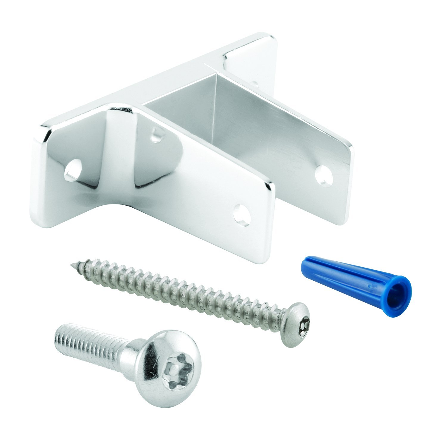 for 1-1//4 Inch Panels Pack of Set Chrome Plated Zinc Alloy Sentry Supply 656-2934 2-Ear Pilaster Bracket