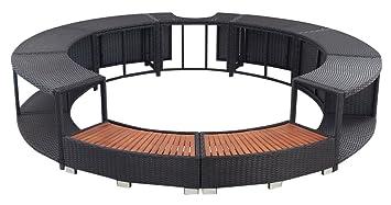 Outdoor Küche Vidaxl : Vidaxl rattan spa umrandung rund schwarz amazon küche haushalt